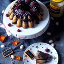 Babka majonezowa z czekoladą i malinami