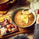Zupa cebulowa z ciągnącym się serem camembert