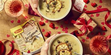 Zupa jarzynowa z pieczonym kalafiorem