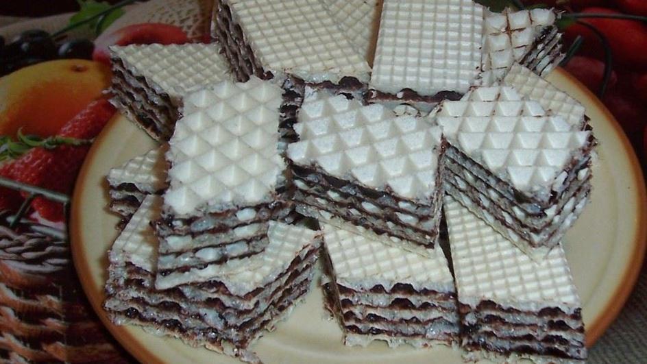 Wafel z masą czekoladową