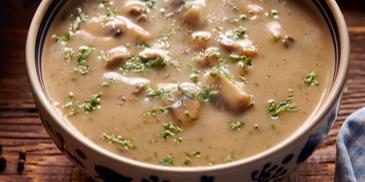 Wykwintna zupa pieczarkowa