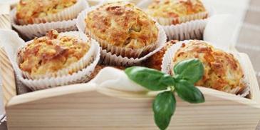 Muffinki z pieczarkami