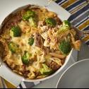 Zapiekanka makaronowa z mięsem i brokułami