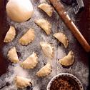 Pierogi wigilijne z kapustą i grzybami