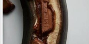 Banany na ciepło z czekoladą