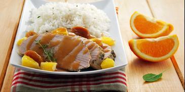Pieczeń wieprzowa w sosie pomarańczowym