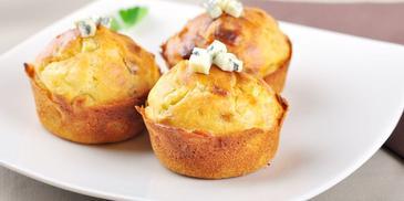 Muffiny w wersji wytrawnej – z gorgonzolą i gruszką