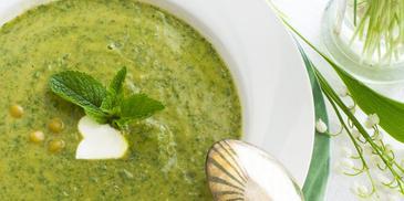 Szybka zupa krem z zielonego groszku