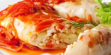 Gołąbki z ryby w sosie neapolitańskim