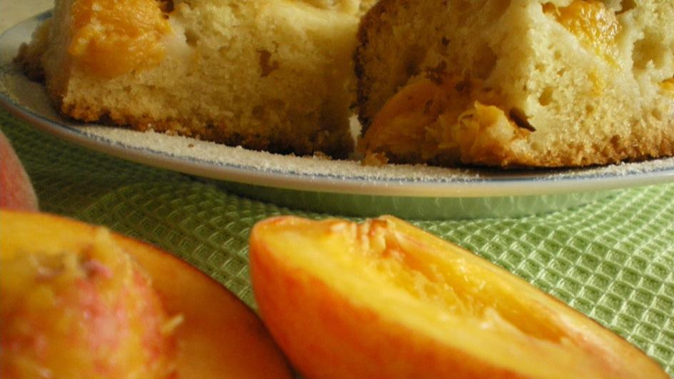 Szybkie ciasto z brzoskwiniami