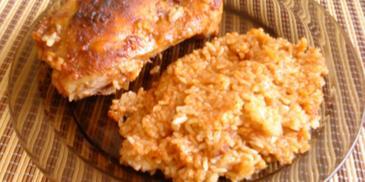 Udka pieczone z ryżem