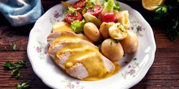 Filet z kurczaka z sosem maślanym