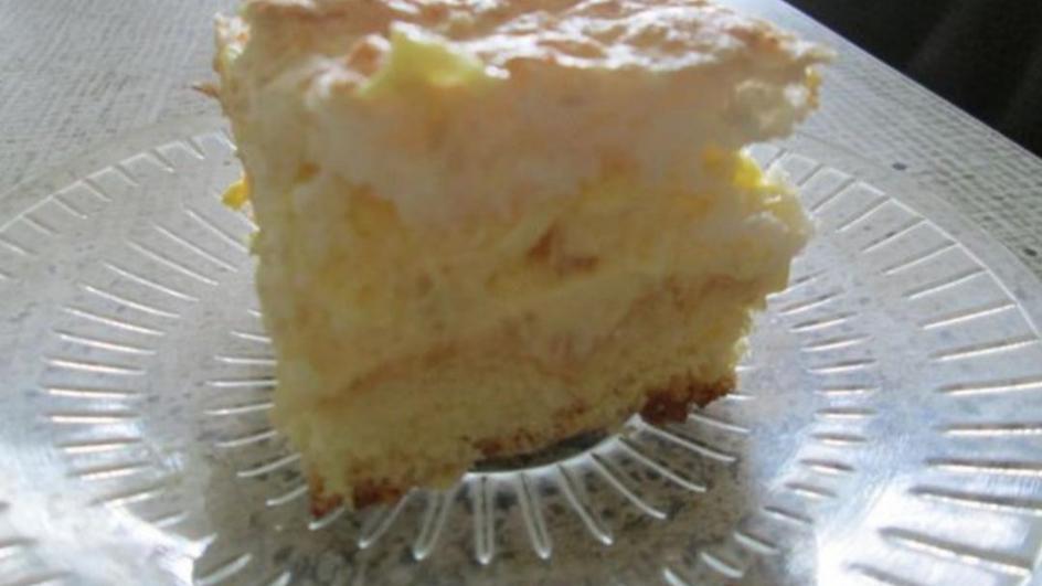 Ciasto ananasowo-kokosowe z kremem