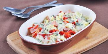 Zapiekane ziemniaki z sosem serowym