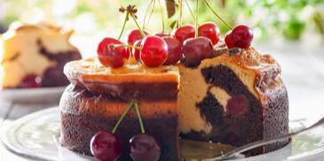 Ciasto serowo-czekoladowe z wiśniami