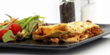 Lasagne z mięsem i porem