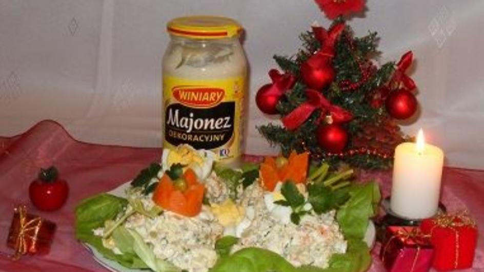 Pyszna sałatka jarzynowa z majonezem