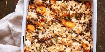 Zapiekanka ryżowa z kurczakiem