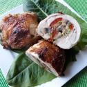 Udka z kurczaka faszerowane pieczarkami i papryką
