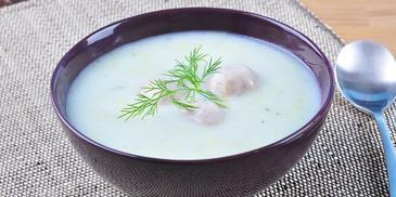 Zupa porowa z mielonym