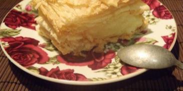 Ciasto francuskie z masą budyniową