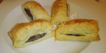 Ciasteczka francuskie z czekoladą
