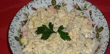 Sałatka z selerem i pieczarkami
