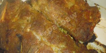 Pieczone żeberka w musztardzie sarepskiej
