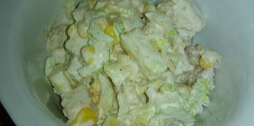 Sałatka z selerem naciowym i kurczakiem w gyrosie