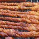 Spiralki z boczku z grilla