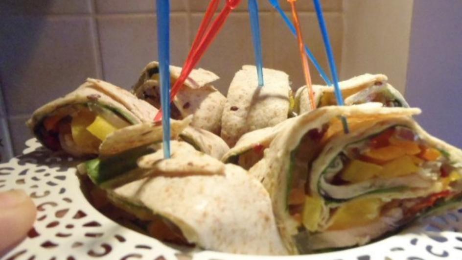 Tortilla na zimno i kolorowo