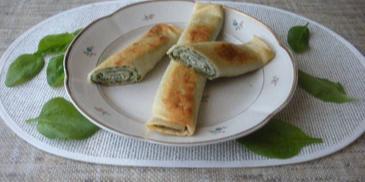 Naleśniki ze szpinakiem i białym serem
