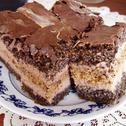 Ciasto z makiem i kremem czekoladowo-orzechowym