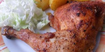 Chrupiące udka z kurczaka w syropie klonowym