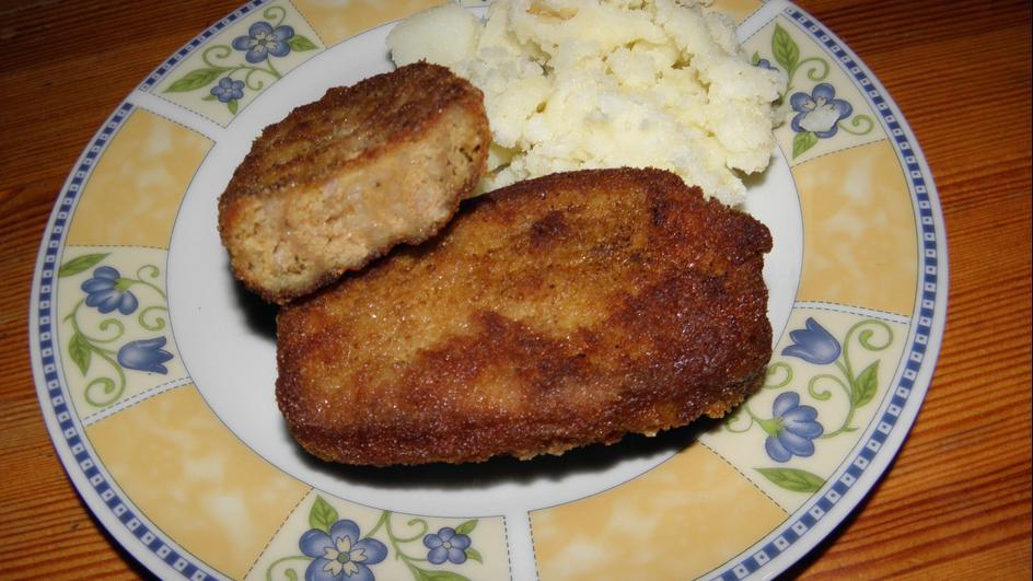 Mięso mielone w waflu