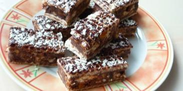 Blok czekoladowy w waflach