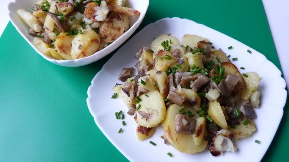 Ziemniaki zapiekane z boczniakami