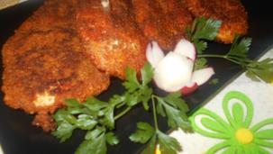 Pierś z kurczaka panierowana w płatkach kukurydzianych
