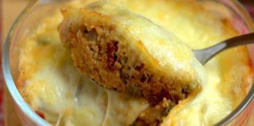 Zapiekanka z kaszy jaglanej z mozzarellą