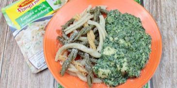 Kurczak w sosie śmietanowo-ziołowym ze szpinakiem