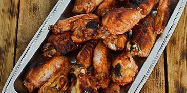 Miodowo- ketchupowe skrzydełka z kurczaka