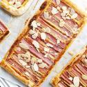 Tarta z rabarbarem na cieście francuskim