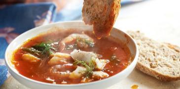 Aromatyczna francuska zupa rybna