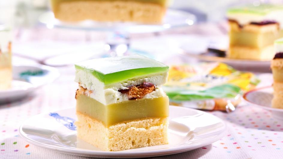Ciasto Shrek – zielone ciasto z galaretką