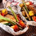 Grillowane pakieciki z kurczakiem i warzywami