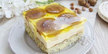 Piegusek ananasowy z budyniem Winiary
