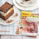 Ciasto czekoladowa fantazja z brzoskwiniową pianką blogerki Mała Cukierenka