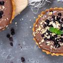 Tartaletki czekoladowo - budyniowe z jagodami