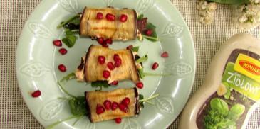 Ziołowe roladki z grillowanego bakłażana