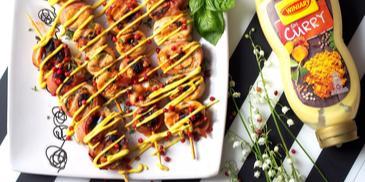 grillowane szaszłyki - roladki z kurczaka